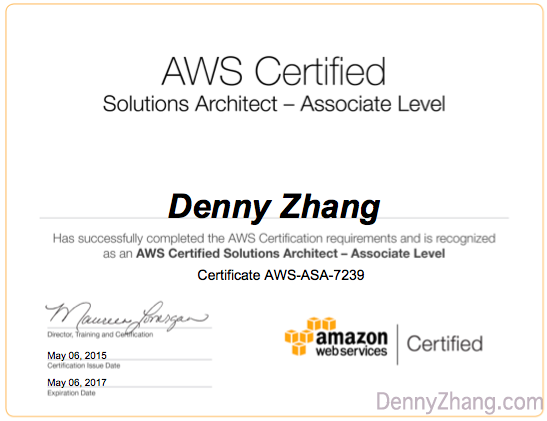 AWS Certification Qiuz By Denny