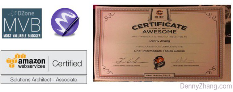 Denny's Certifications