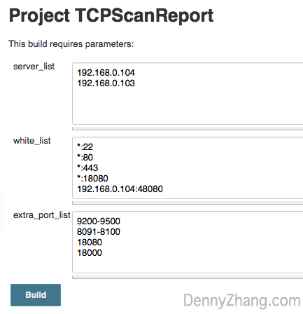 TCPScanReport Jenkins Job