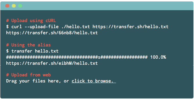 transfer.sh: Command Line To Share Files Across The Internet
